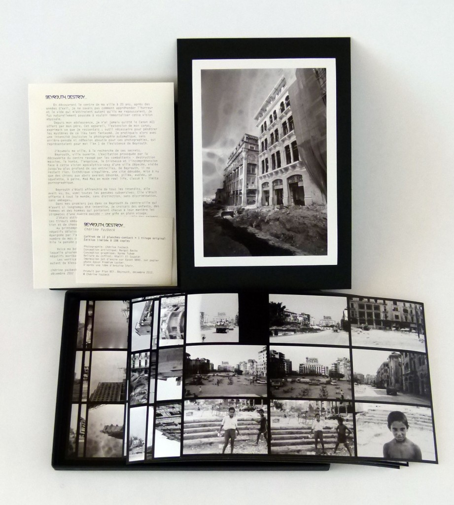 Print, introduction text by the artist, credits, and the contact sheets in the box. Each box contains 12 contact sheets of 9 images each.