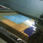 The Days of the Blue Bat silkscreen process